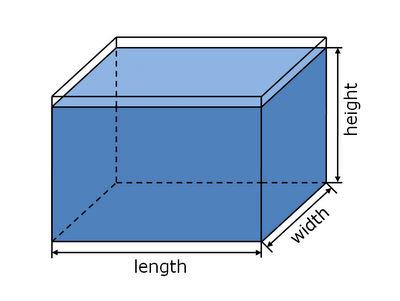 APSA Aquarium Volume Calculator